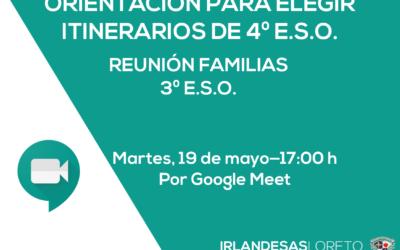 Circular reunión familias 3º ESO